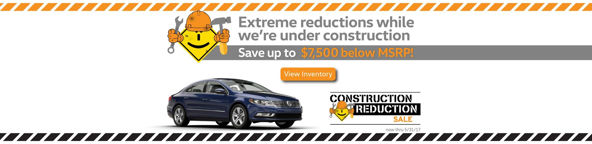 Capo VW Construction Reduction Sale - savings up to $7,500 below MSRP!