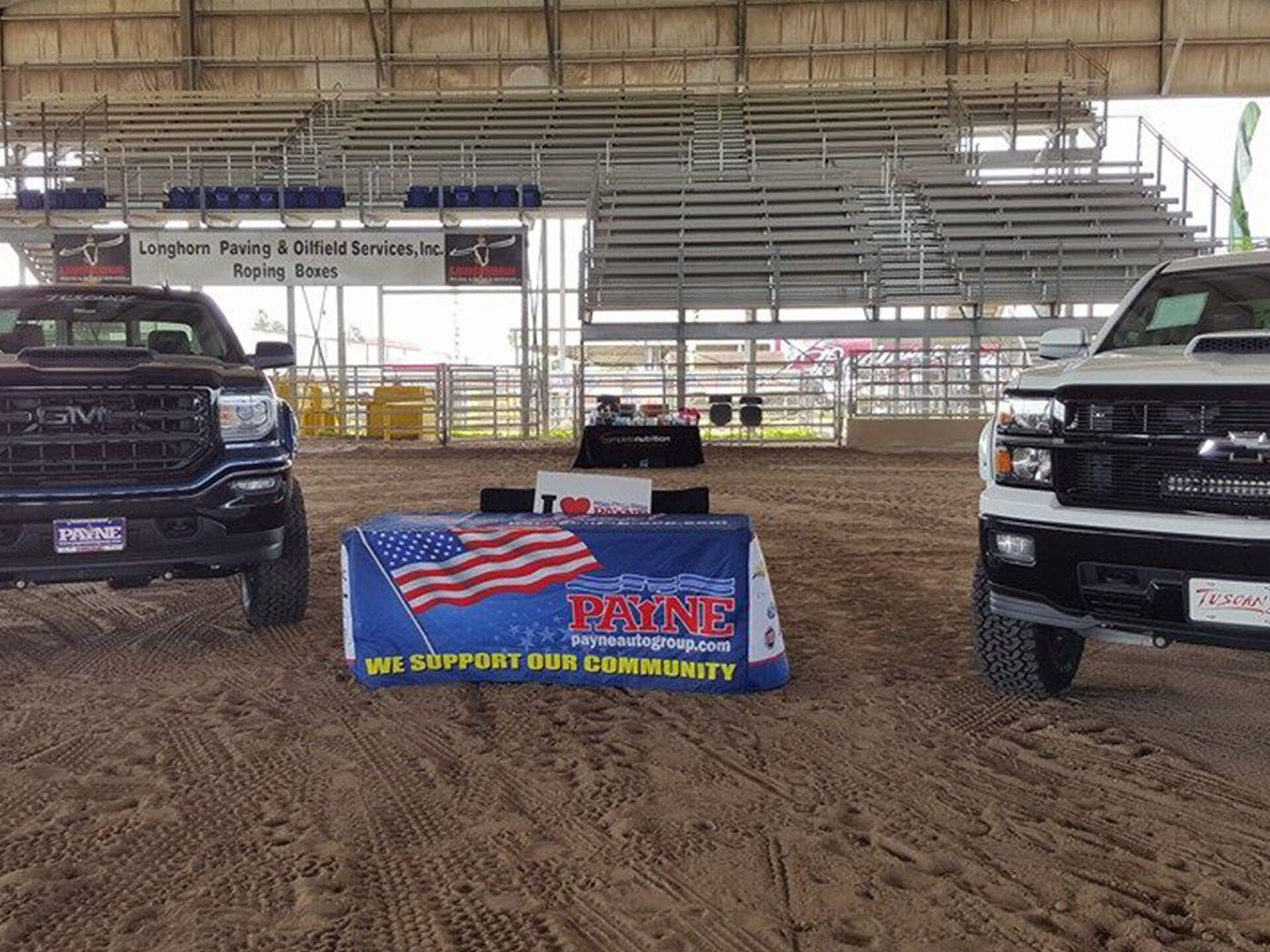 Payne auto group rodeo arena rio grande livestock show for Payne motors mission tx