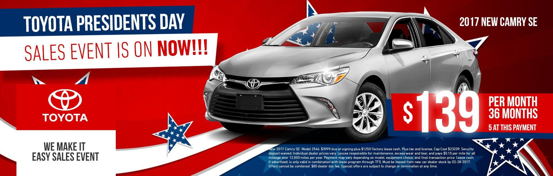 Camry's President Day Special