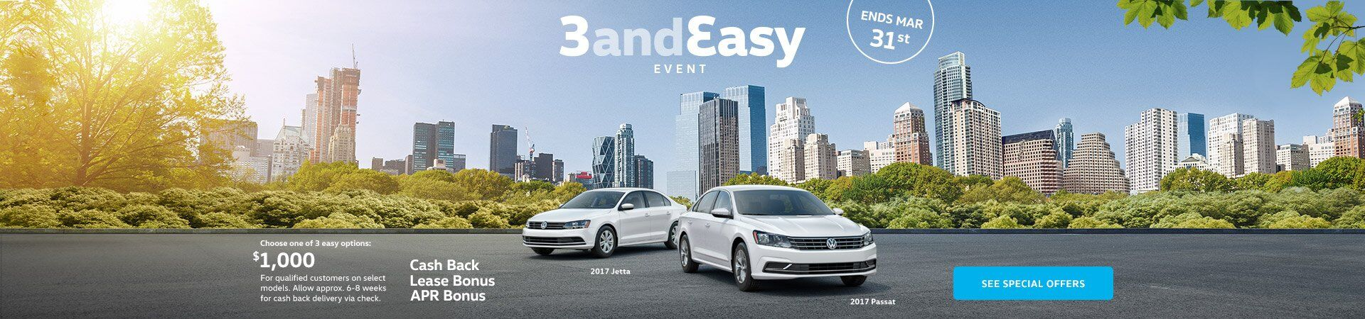 3 and Easy Sales Event