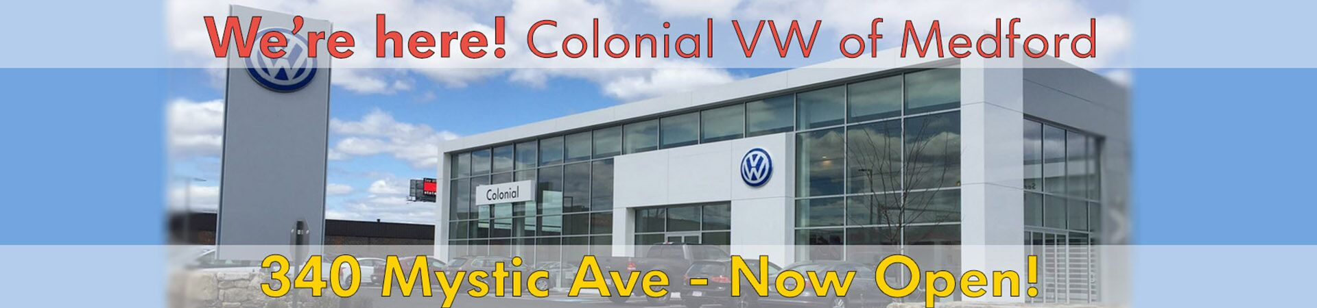 Welcome to Colonial Volkswagen of Medford