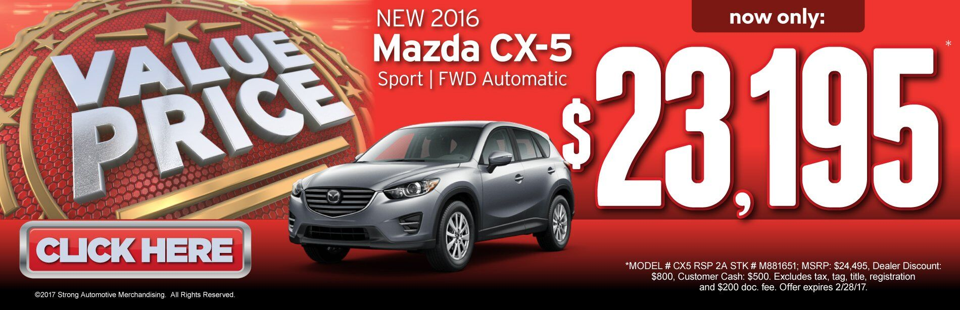 Value Price Mazda CX-5