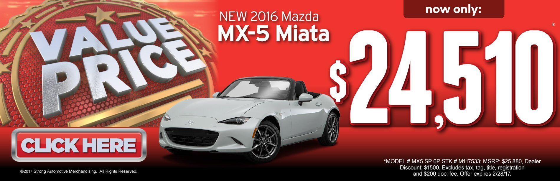 Value Price Mazda MX-5 Miata