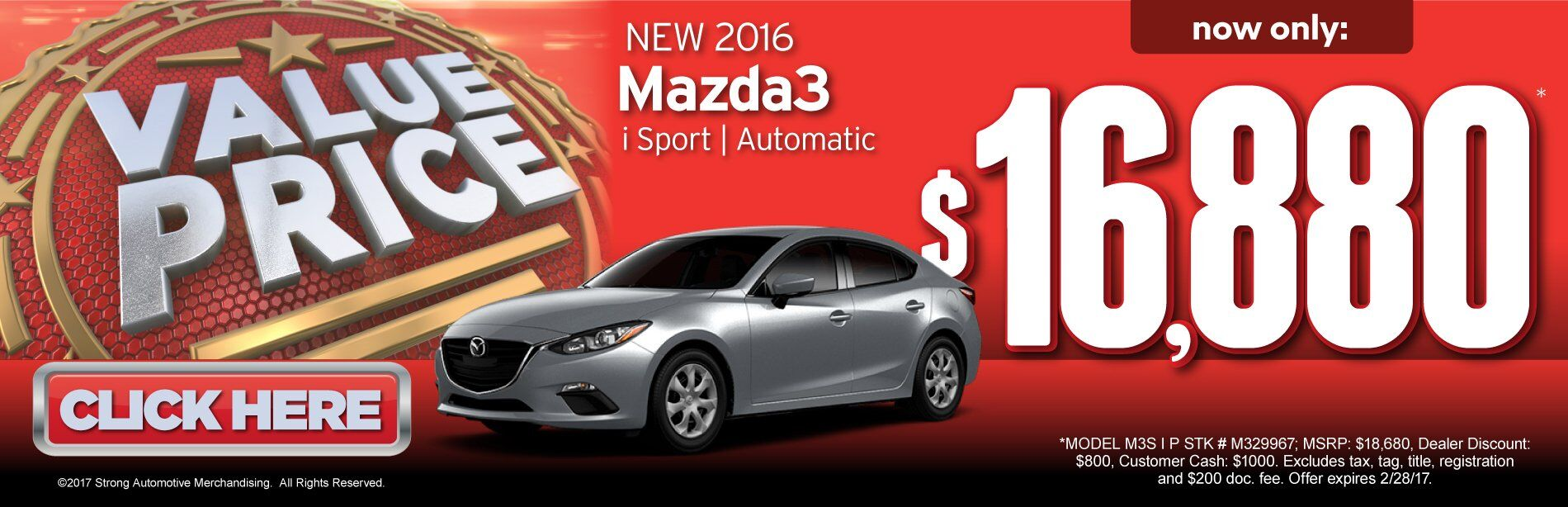 Value Price Mazda3 i Sport