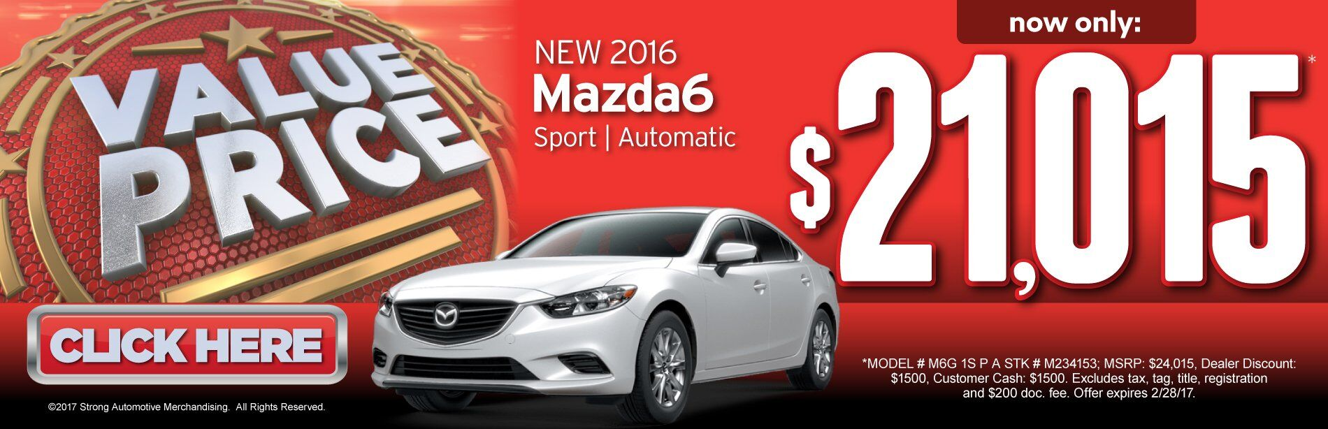 Value Price Mazda6 i Sport