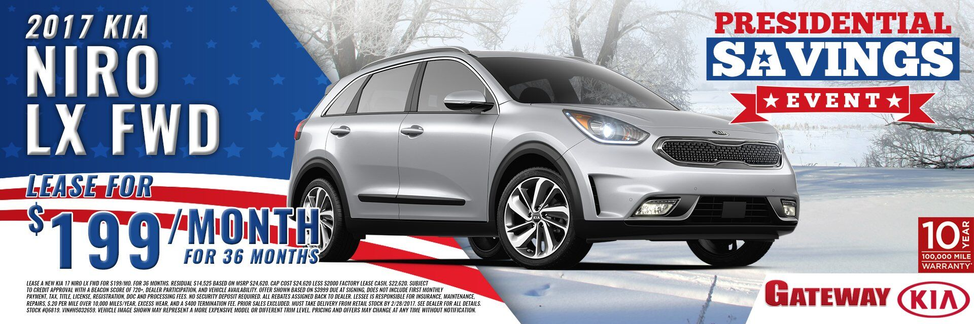 2017 KIA Niro for $199 per mo