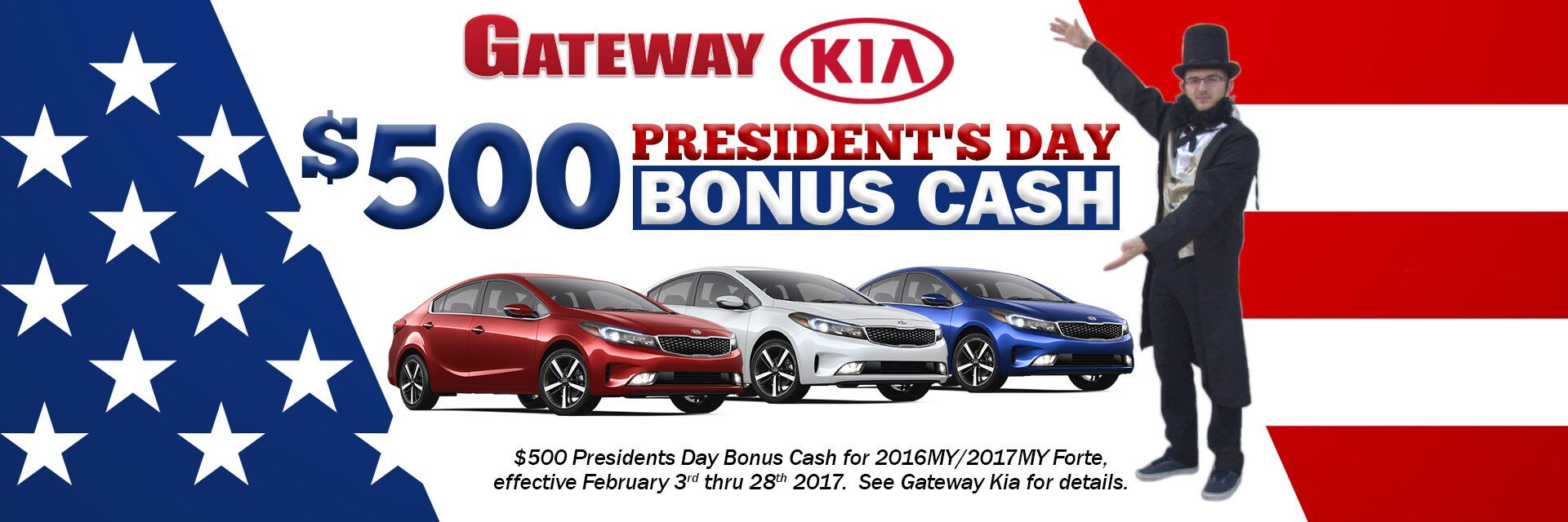 President's Day Bonus Cash