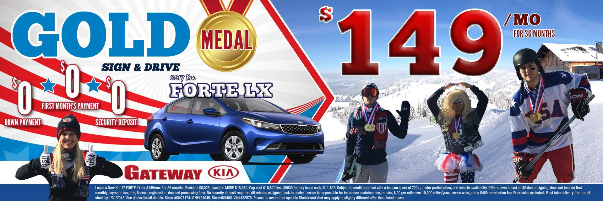 $149 Forte - Gold Medal Sign and Drive