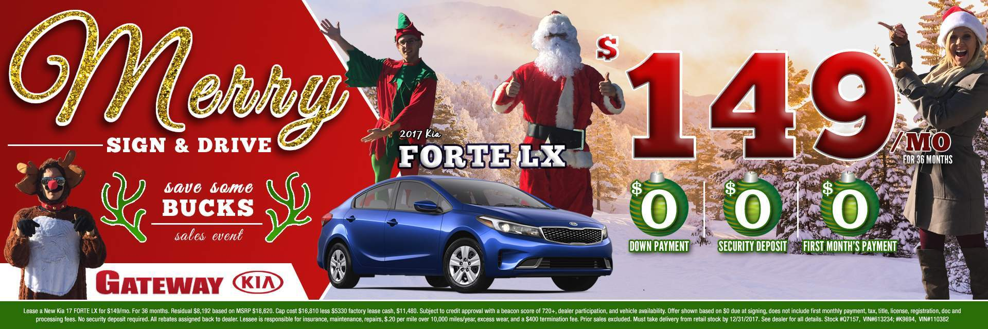 $149 Forte Merry Sign and Drive