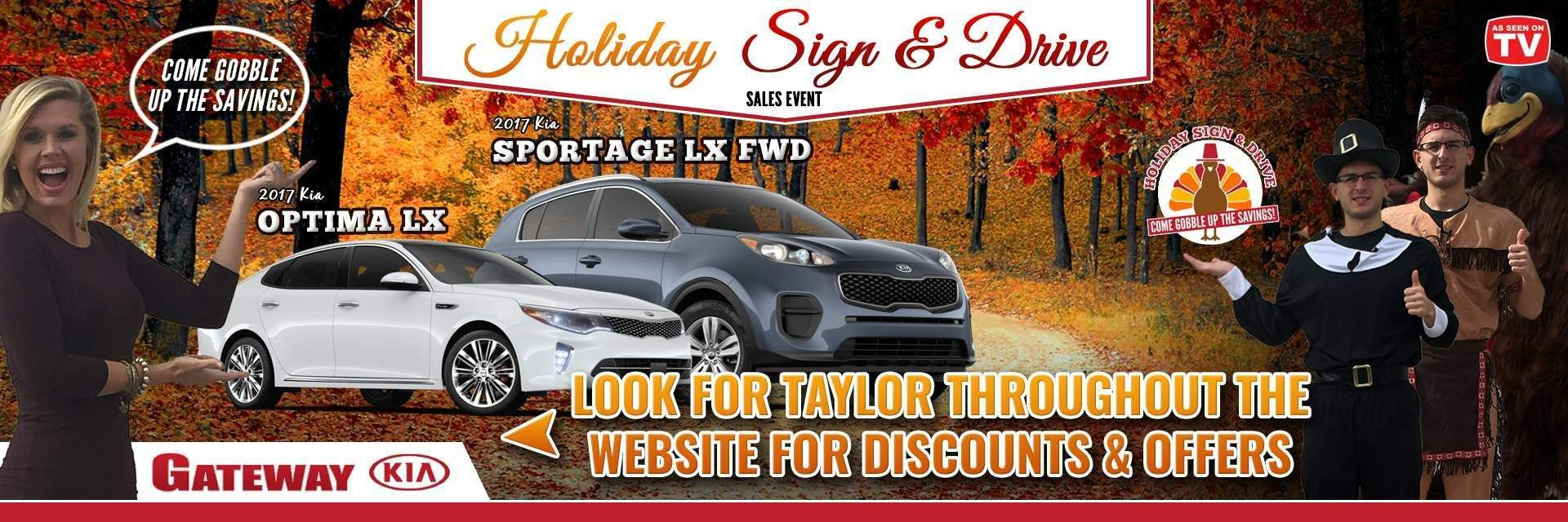 Holiday Sign and Drive