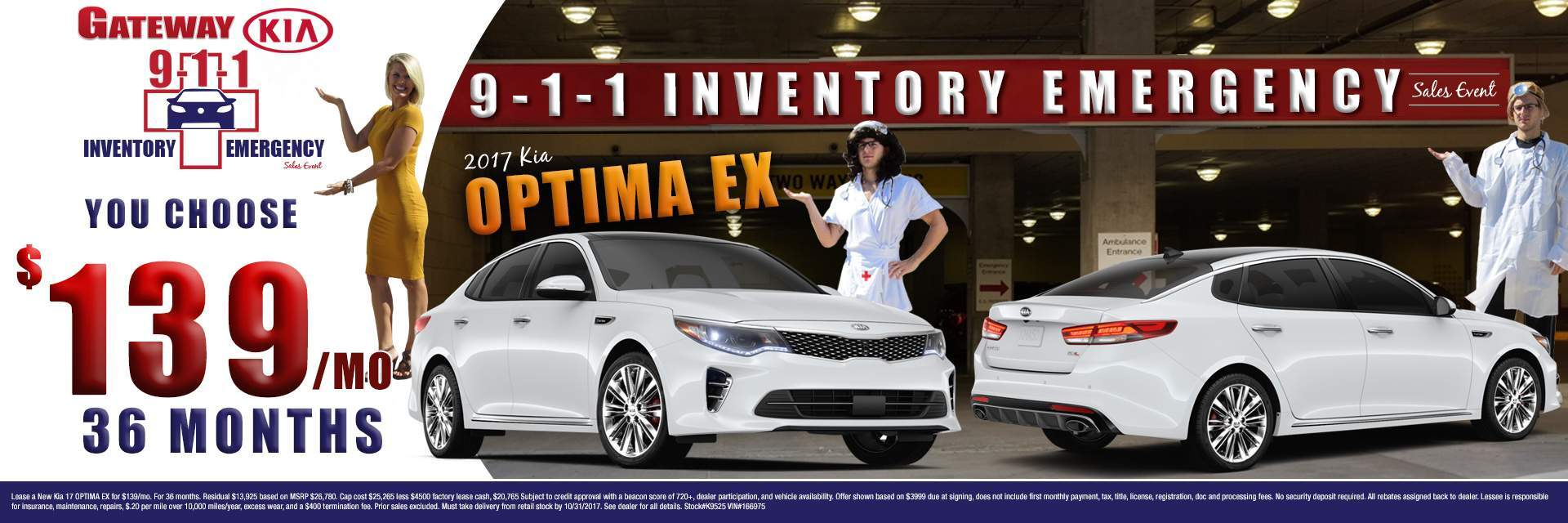Kia Optima EX $139/mo