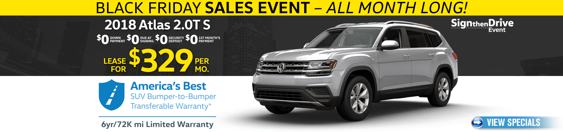 VW Sign then Drive Event - Atlas Offer