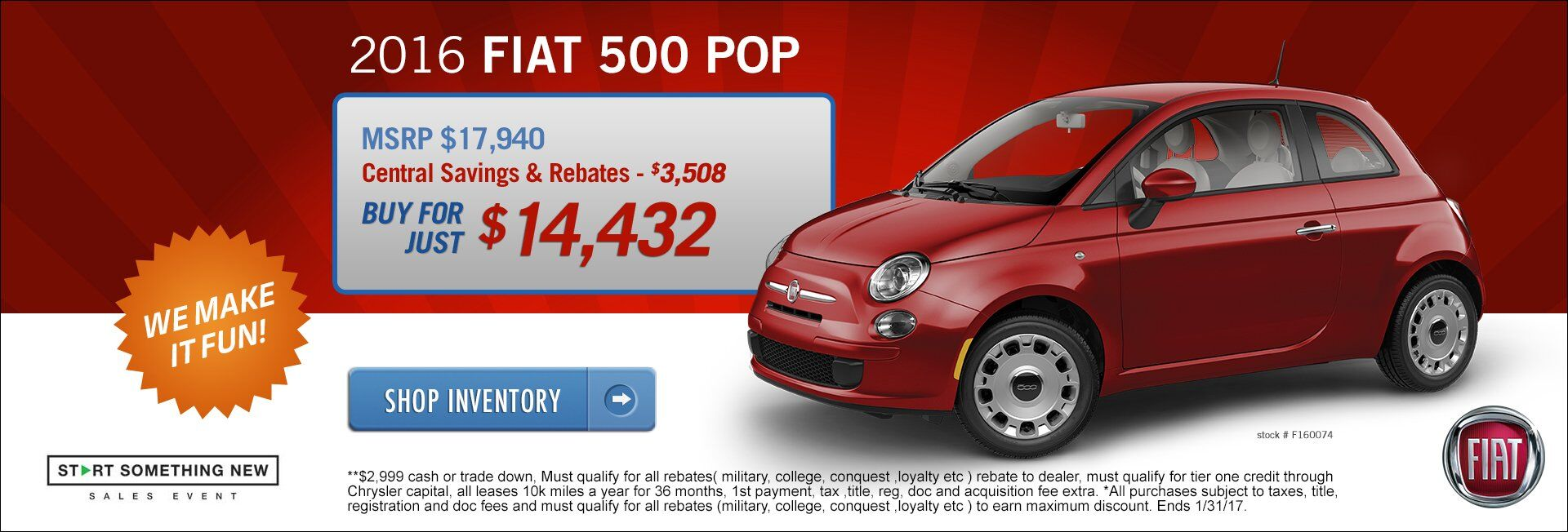 Fiat Dealer Near Boston MA on the Automile | Central Fiat ...
