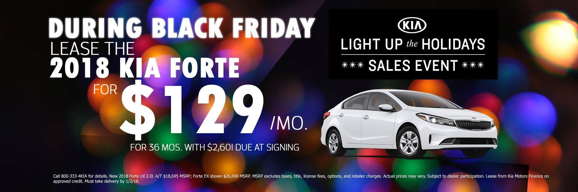 Black Friday 2018 KIA Forte