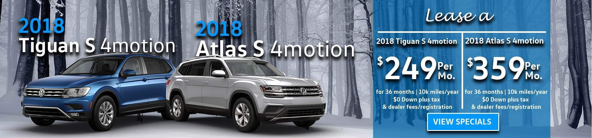 January Tiguan/Atlas Specials