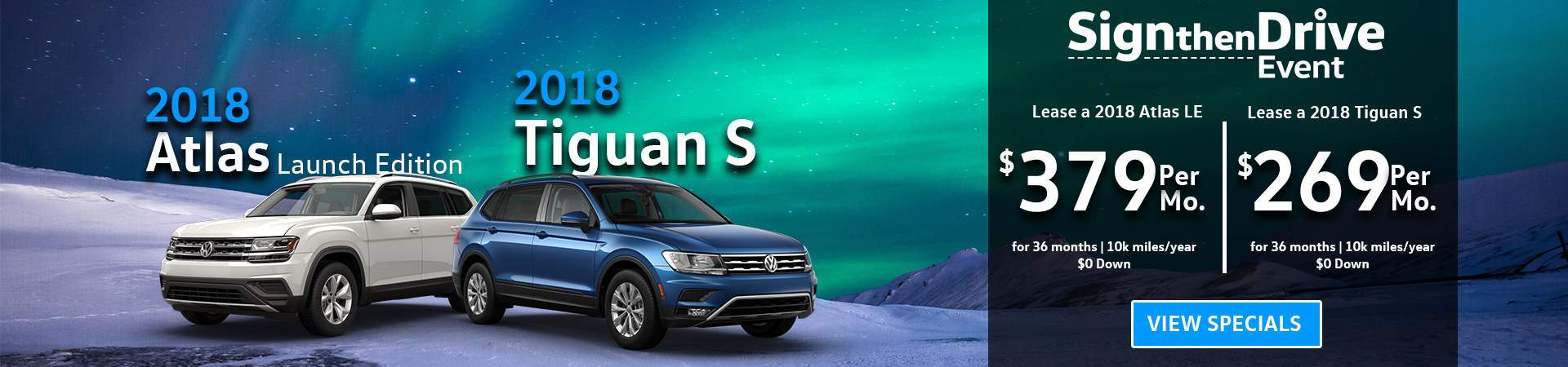 Atlas and Tiguan December Specials-Updated Pricing