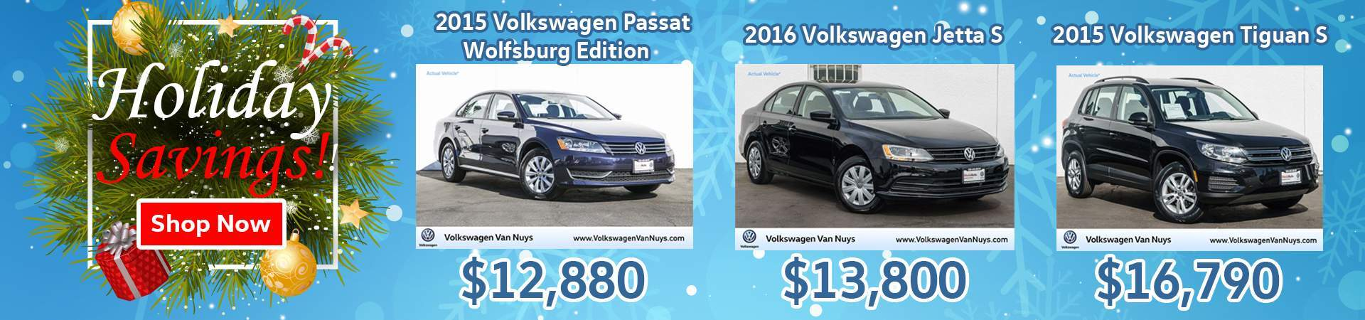 VW Holiday Savings