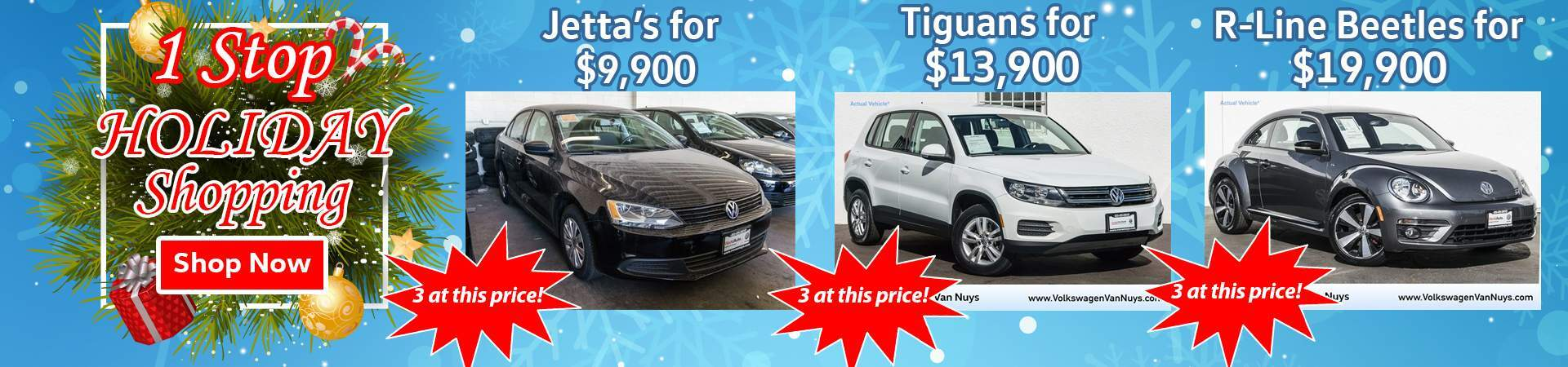 December Deals on multiple vehicles