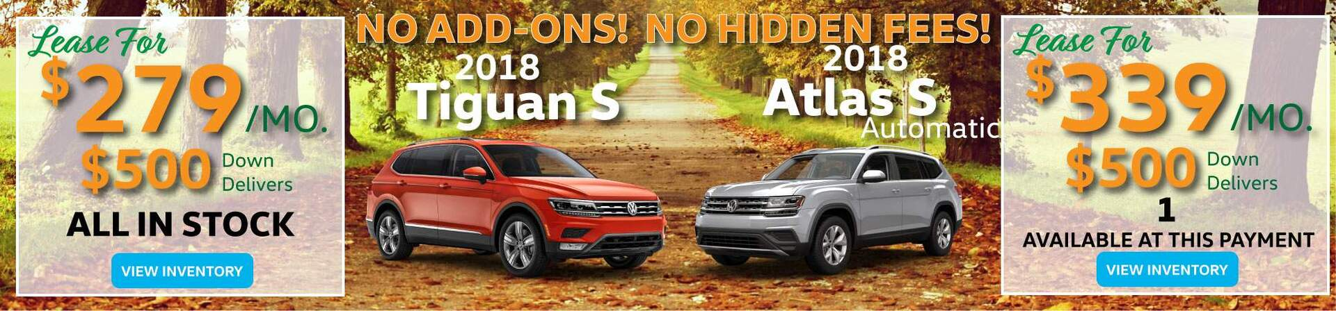2018 Tiguan and Atlas