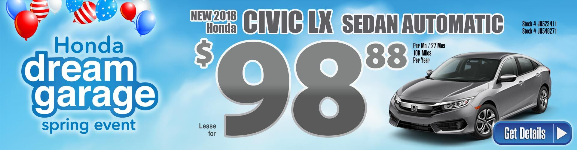 18 civic lease
