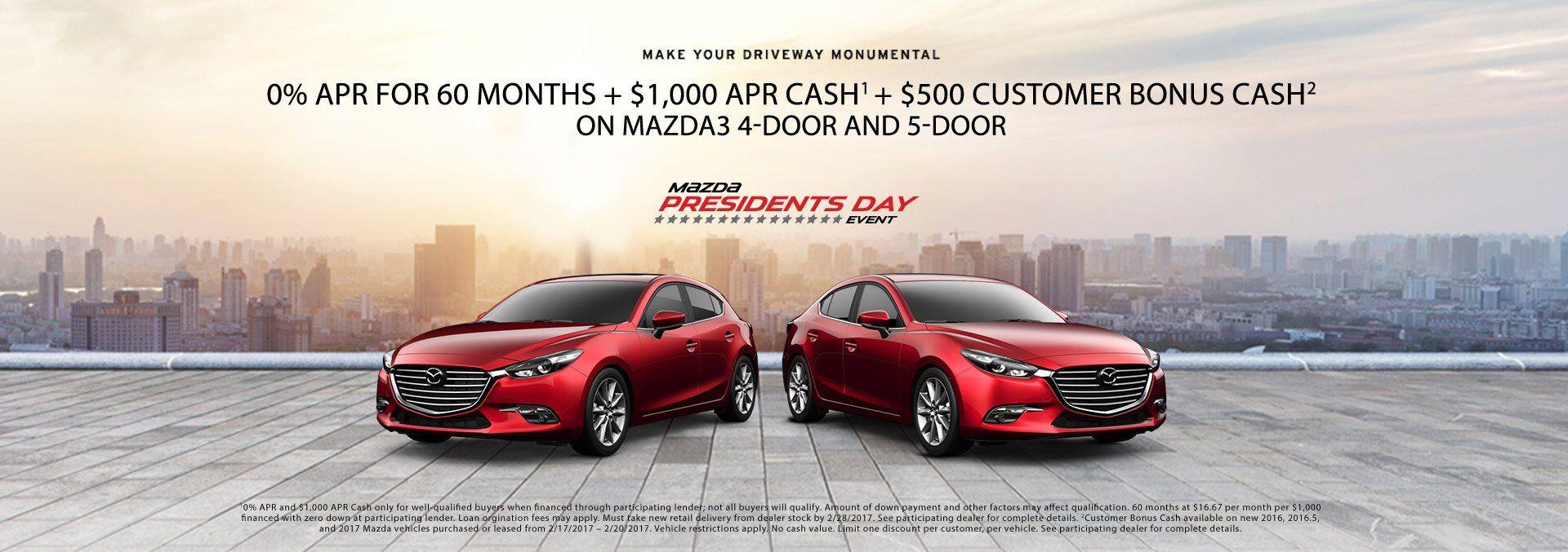 Mazda President's Day Event