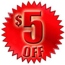 $5 OFF ANY FULL SERVICE  CAR WASH OF $22 OR MORE.