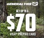 Get up to $70.00 from General Tire with mail in rebate