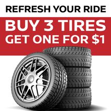 Tire Special - Buy 3 Get 4th For $1.00