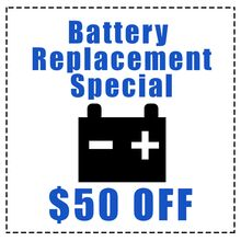 $50.00 OFF! BMW Battery Replacement Special