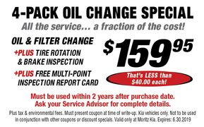 4-Pack Oil Change Special