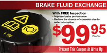 BRAKE FLUID EXCHANGE SPECIAL