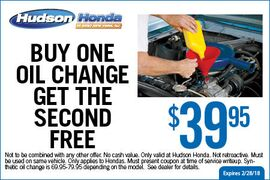 Buy One Oil Change Get Second Free