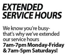 Extended Service Hours