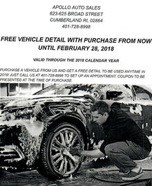 Free Vehicle Detail with Purchase