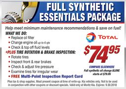Full Synthetic Essentials Package