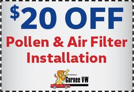 $20.00 OFF pollen and air filter installation