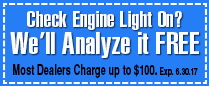 Check Engine Light On? We'll Analyze it FREE
