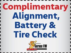 Complimentary Alignment, Battery and Tire Check
