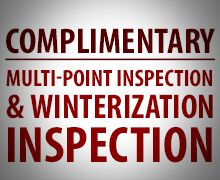 Complimentary MPI & Winterization Inspection