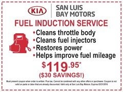 FUEL INDUCTION SERVICE - $119.95 ($30 SAVINGS)