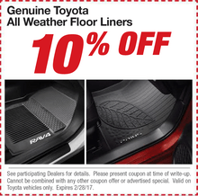 Genuine Toyota All Weather Floor Liners