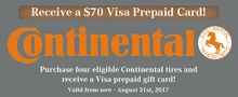 Receive a $70 Visa Prepaid Card