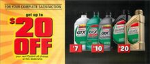UP TO $20 OFF OIL CHANGE*