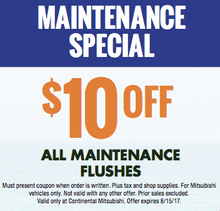$10.00 off All Maintenance Flushes