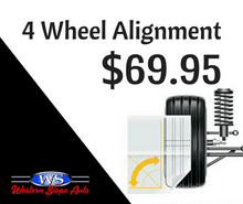 $69.95 4-WHEEL ALIGNMENT