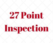 Complimentary 27 Point Inspection