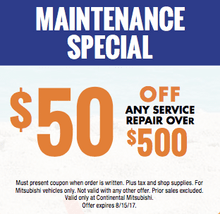 Maintenance Special