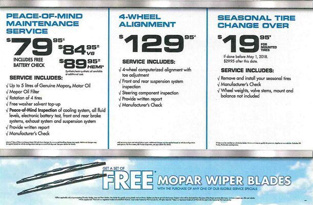 Seasonal Services For Your Vehicle