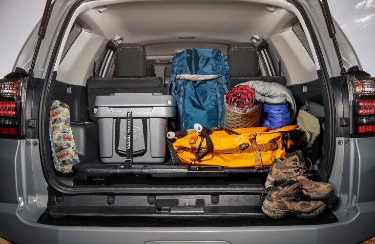 A photo of the cargo area in the back of the 2021 Toyota 4Runner.