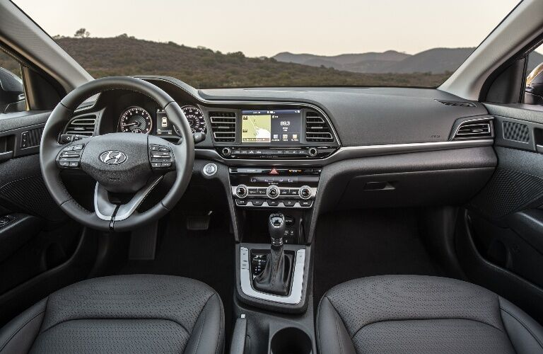 2020 Hyundai Elantra Dashboard overlooking mountains